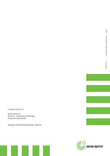 durchführungsbestimmungen goethe-zertifikat b1 - SLZ Eriwan