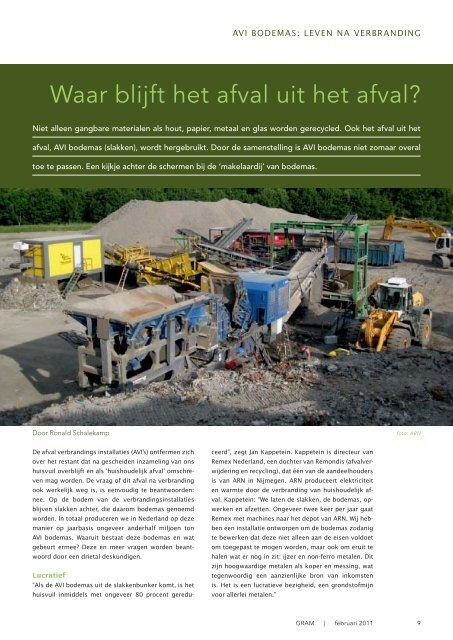 Hazemag Afval uit Afval bron: tijdschrift Gram - Vermeulen ...
