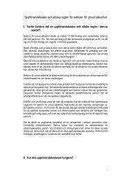 Code of Conduct - Swedish Translation - CoESS