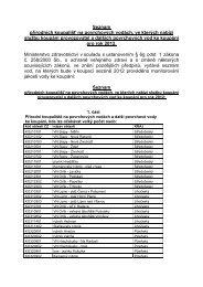 Seznam přírodních koupališť na povrchových vodách, ve kterých ...