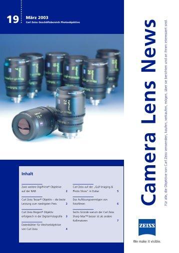 Camera Lens News - Carl Zeiss