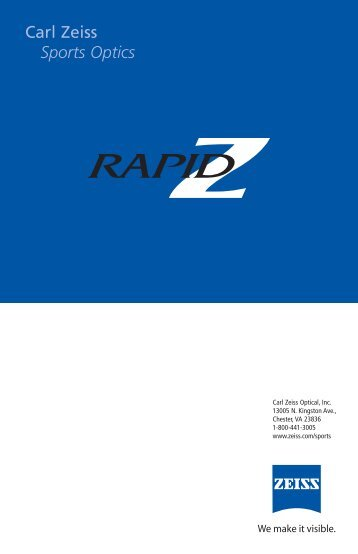 Rapid Z manual v3 - Carl Zeiss International