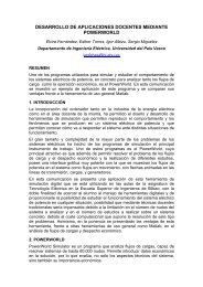 Desarrollo de aplicaciones docentes mediante POWERWORLD