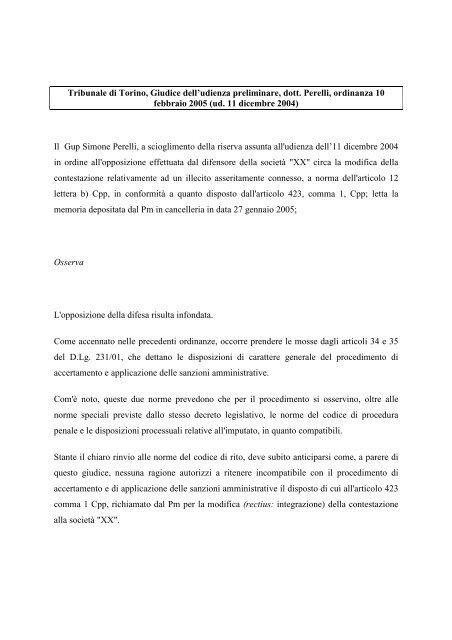 trib Torino 10-02-05 - Aodv231.it
