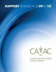 Rapport annuel 2009/2010 - Centres d'aide aux victimes d'actes ...