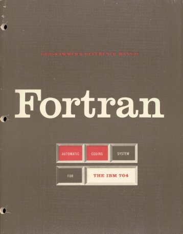 Fortran Automated Coding System For the IBM 704