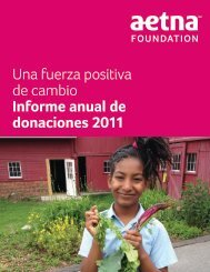2011 Aetna Foundation Annual Giving Report - Spanish