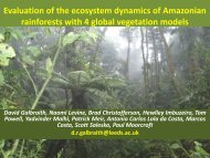 Using field data from Amazonian rainforests to validate and ... - JULES