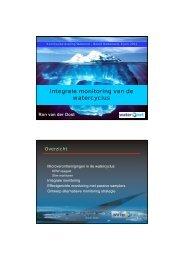 Integrale monitoring van de watercyclus - Waternet Innovatie