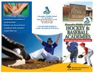 Sports Academy Brochure - Alexandra Middle School