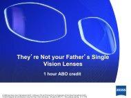 Standard Single Vision