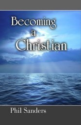 Becoming a Christian - In Search of the Lord's Way