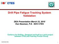 Drill Pipe Fatigue Tracking System Validation - Drilling Engineering ...