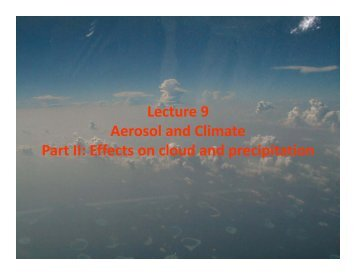 Aerosol & Climate Part 2.pdf - Atmospheric and Oceanic Science