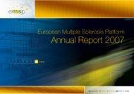 EMSP Annual Report 2007s.pdf - European Multiple Sclerosis ...
