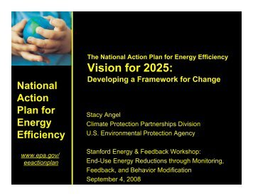 The Action Plan's Vision for 2025 - Precourt Energy Efficiency Center