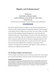 Dignity and Enhancement (PDF) - Nick Bostrom's Home Page