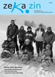 Freizeit aktiv gestalten - zeka, Zentren körperbehinderte Aargau