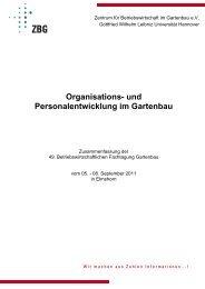Organisations- und Personalentwicklung im Gartenbau