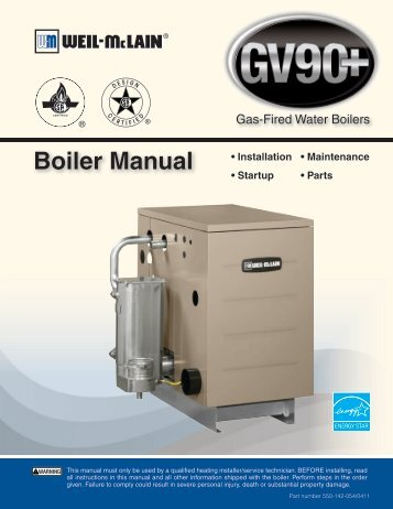 Weil Mclain Gas Boiler Manual - Ultimate User Guide •