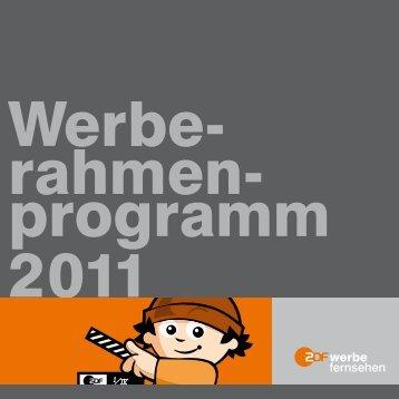 Werbe- rahmen- programm 2011 - ZDF Werbefernsehen