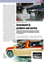 Investment in products and service - Gummibereifung