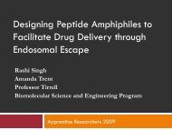 Designing Peptide Amphiphiles to Facilitate Drug Delivery through ...