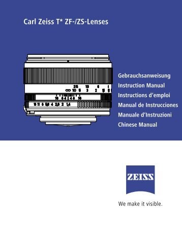 Instruction Manual: ZF/ZS Lenses - Carl Zeiss