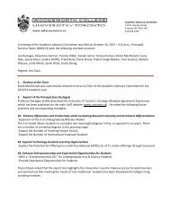 Minutes of the Academic Advisory Committee Meeting, October 2012