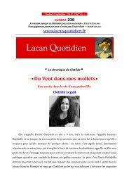 LQ 230 - Lacan Quotidien
