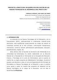 """PROYECTO e-PRACTICUM; UN EJEMPLO DE APLICACIÓN DE ..."
