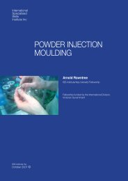 Powder Injection Moulding - International Specialised Skills Institute