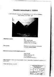 Ocenění nemovitostí č. 12/2010 - e-aukce