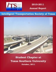 Student Chapter at Texas Southern University - ITS Texas