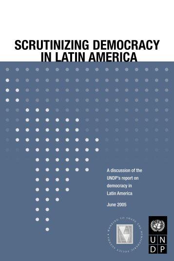 scrutinizing democracy in latin america - Inter-American Dialogue