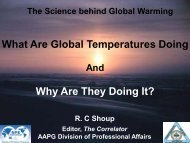 What Are Global Temperatures Doing - College of Marine Science