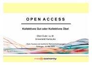 Open Access - Universitätsverlag Göttingen