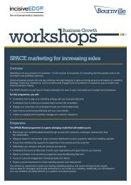 SPACE marketing for increasing sales - Bournville College