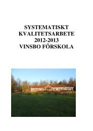 SYSTEMATISKT KVALITETSARBETE 2012-2013 VINSBO ...