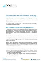 Environmental and social themed investing - PRI Signatory Extranet ...