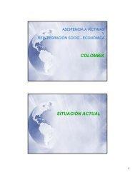 COLOMBIA SITUACIÓN ACTUAL - AP Mine Ban Convention