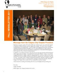 Fall Newsletter - Calgary City Chapter - Engineers Without Borders ...