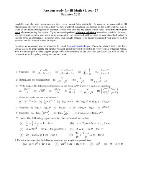 Eoc review packet answer key math 1
