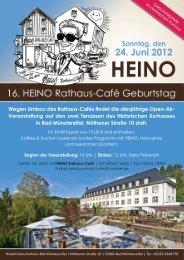 Wegen Umbau des Rathaus-Cafés findet die diesjährige Open-Air ...
