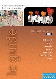 Animations culturelles, festives et sportives juillet / août ... - Vosges
