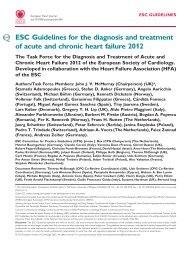 ESC Guidelines on Diagnosis and Treatment on Acute and Chronic ...