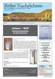 """""""Schwarz – Weiß"""" - Stadt Zeil am Main"""
