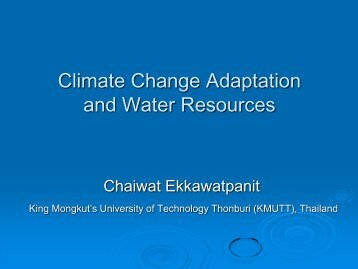 Climate Change Adaptation and Water Resources