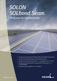 Solon SOLbond Seam Datenblatt - AEET Energy Group GmbH