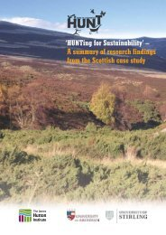 A summary of research findings from the Scottish case study